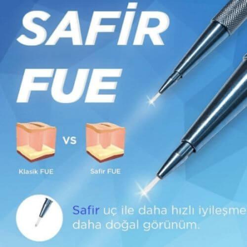 Safir FUE teknik